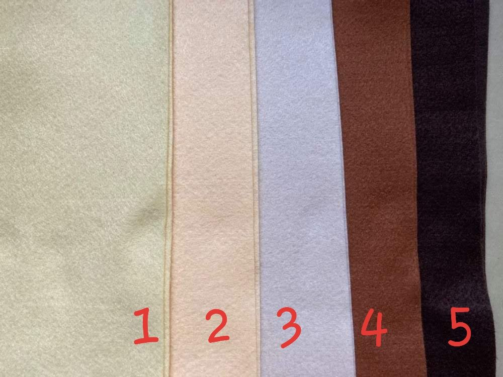 Buttermilk (Dark) Premium Craft Felt A4 (each) Shade 2