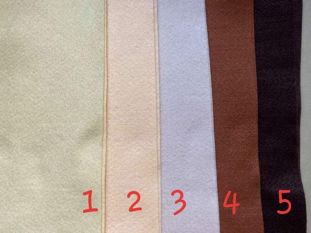 Buttermilk (Light) Premium Craft Felt A4 (each) Shade 1