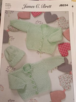 Childrens Knitting Pattern Cardigan , Hat JB234