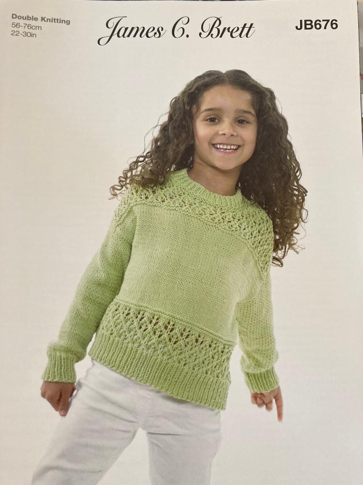Childrens Knitting Pattern Jumper JB676