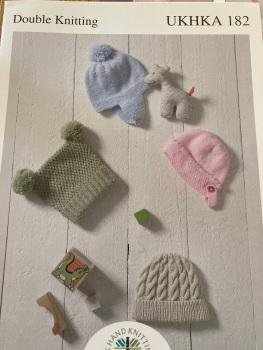 Childrens Knitting Pattern Hats UKHKA182