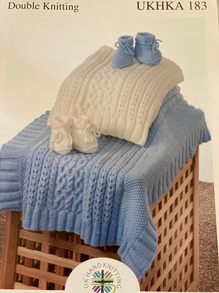 Childrens Knitting Pattern Blanket , Bootees UKHKA183