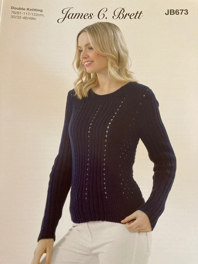 Ladies Knitting Pattern Jumper JB673