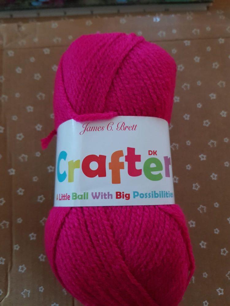 James C Brett Yarn / Wool Crafter DK 50g - Cerise CT08
