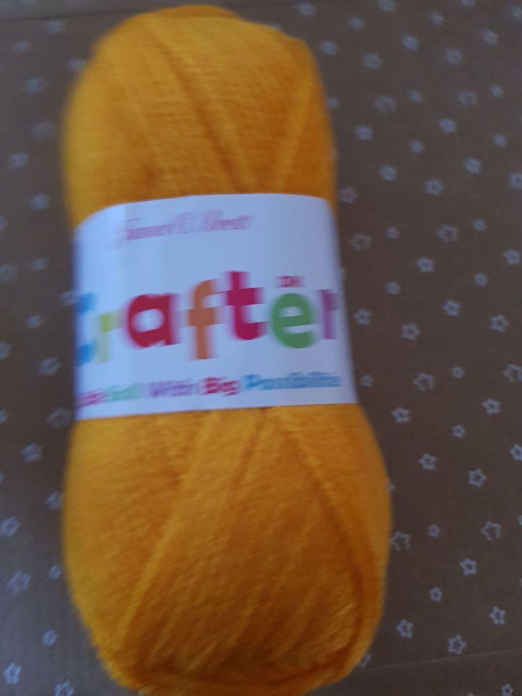 James C Brett Yarn / Wool Crafter DK 50g - Light Orange CT12