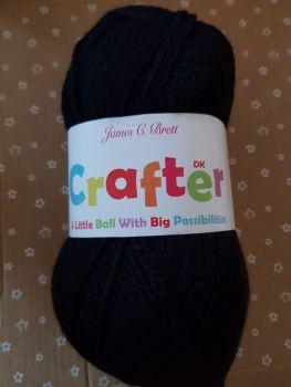 Crafter DK 50g - Black CT14  James C Brett