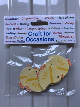 Embellishments/Card Making - Chicks 5 Pack