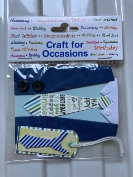 Embellishments/Card Making -Shirt/Tie Pack