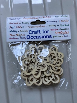 Wooden Flower Shaped Embellishments - Pack of 12