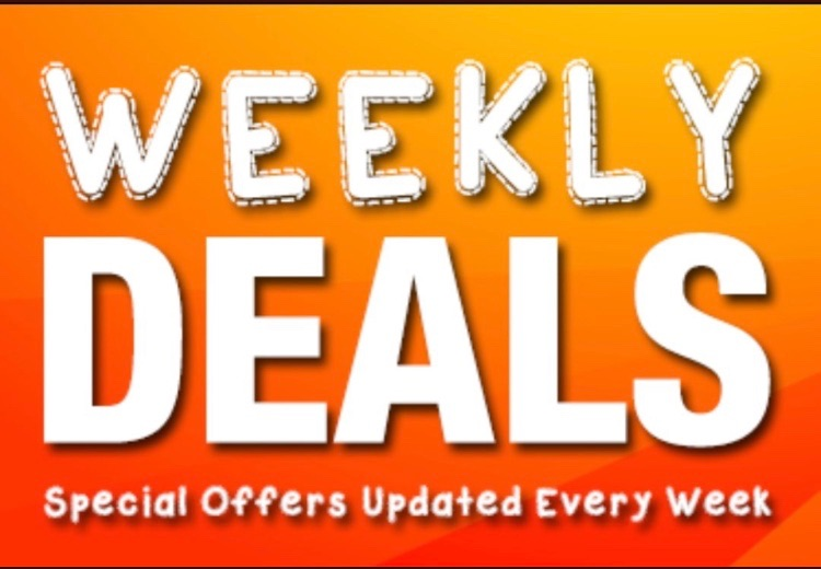 **Weekly Deals**. Available until Sunday 7th June