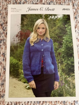 Ladies Knitting Pattern Chunky Cardigan JB423