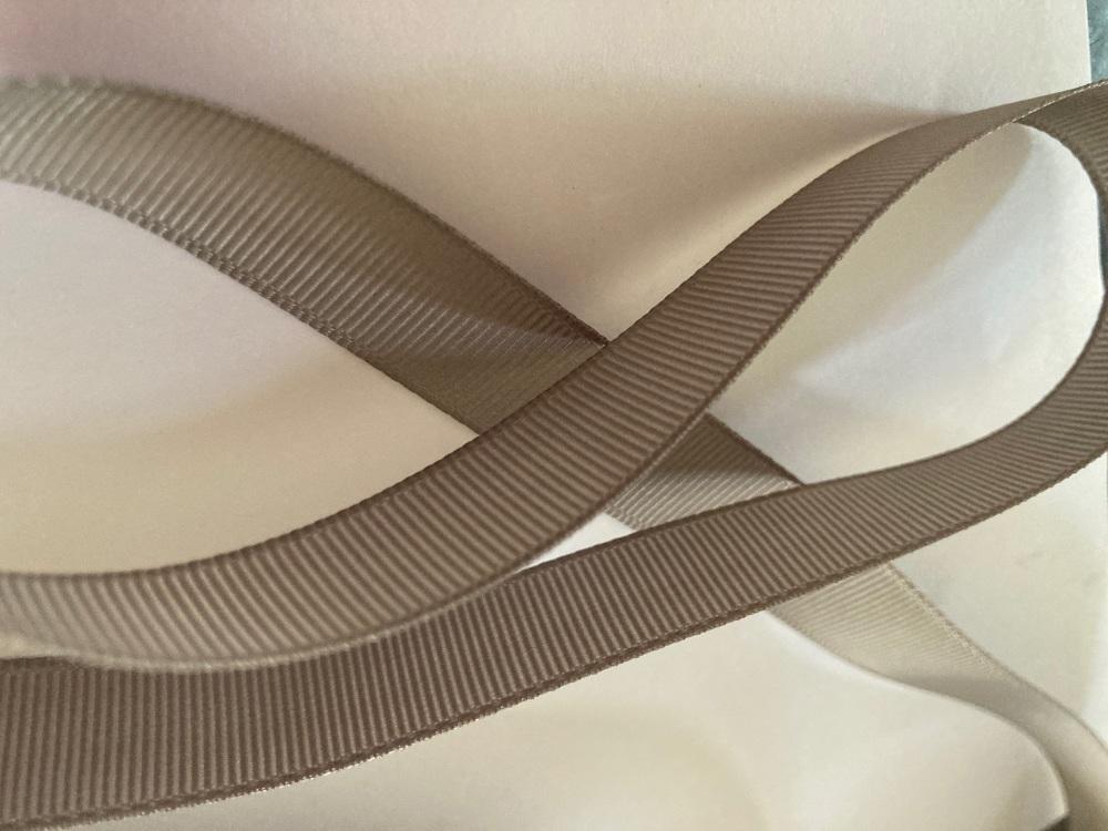 Grey Grosgrain Ribbon 15mm ( per metre)