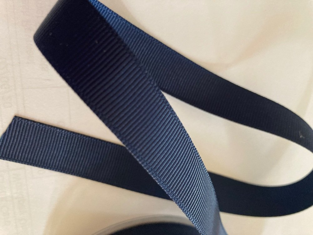 Navy Grosgrain Ribbon 10mm ( per metre)