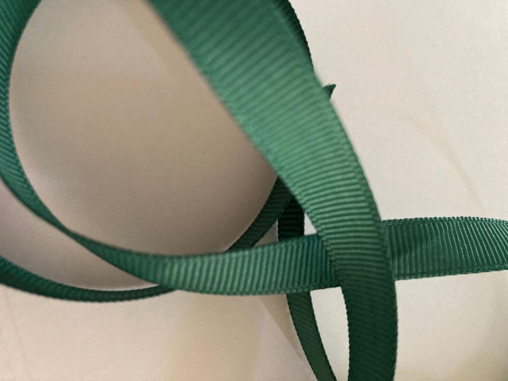 Green ( Bottle) Grosgrain Ribbon 10mm ( per metre)