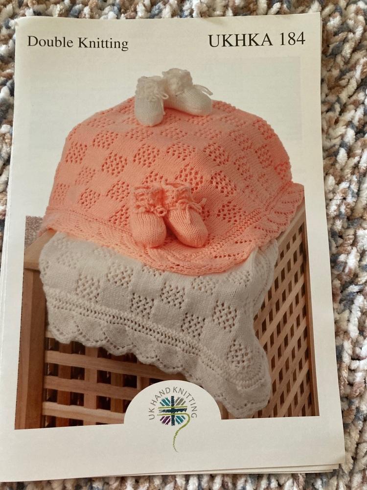 Childrens Knitting Pattern Blanket , Bootees UKHKA184