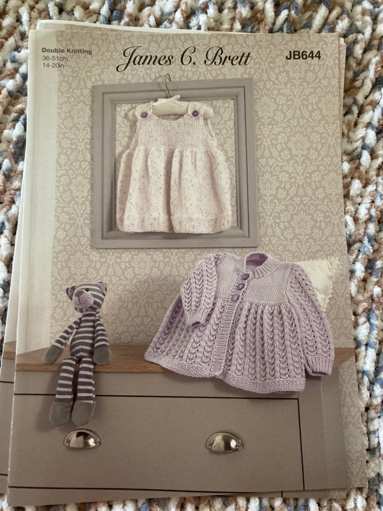 Childrens Knitting Pattern Dress , Jacket JB644