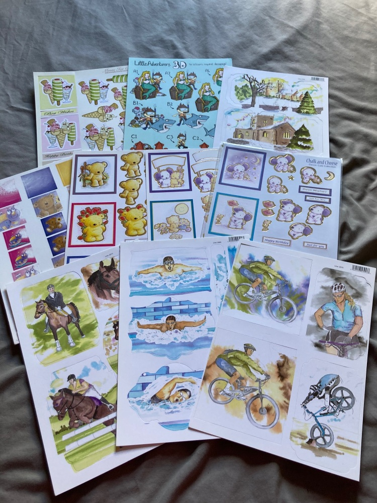 Card Making (Pack of 9) FREE POSTAGE