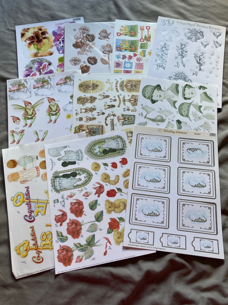 Card Making (Pack of 10) FREE POSTAGE   CM05