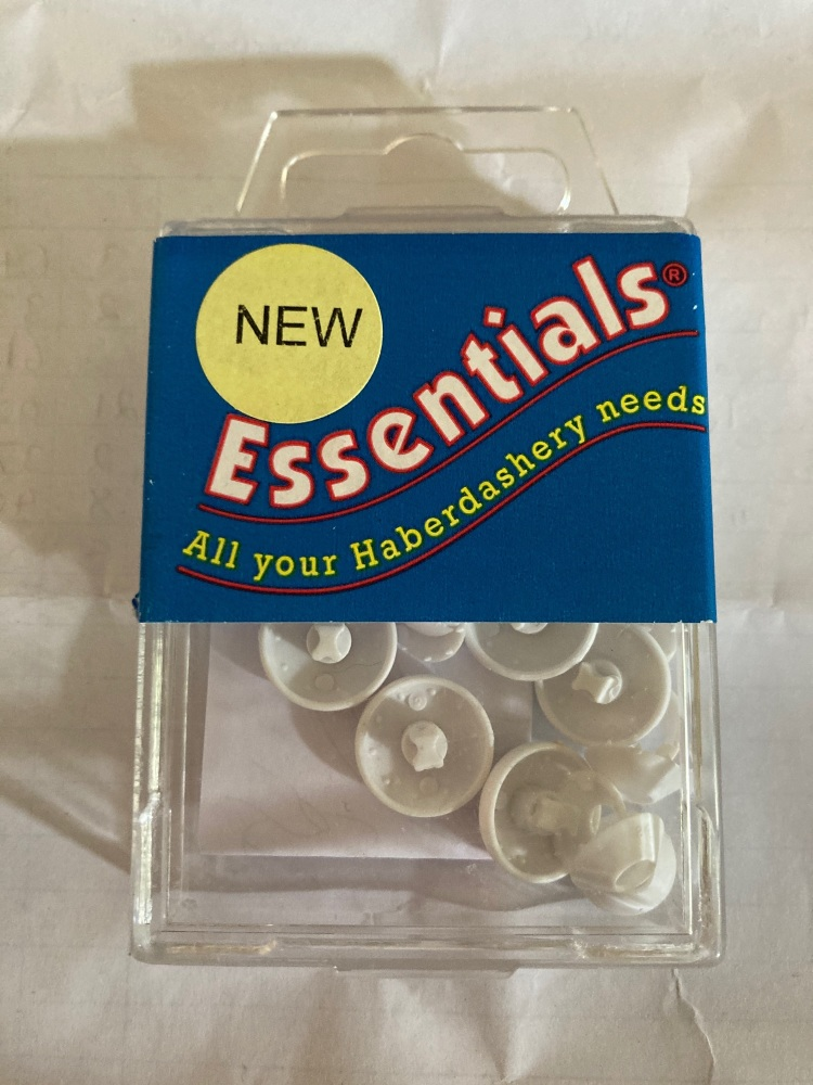 Self Covering Buttons 15mm (10 pairs)