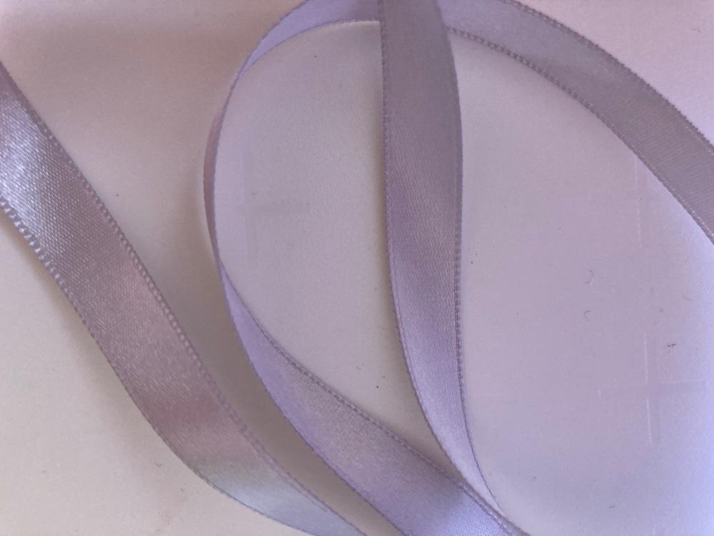 Grey  /Silver Double Satin Ribbon 10mm (per metre)