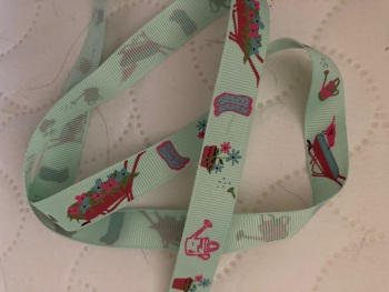 Gardening Grosgrain Ribbon 16mm (per metre) Mint Green