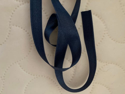 Navy Double Satin Ribbon 10mm (per metre)