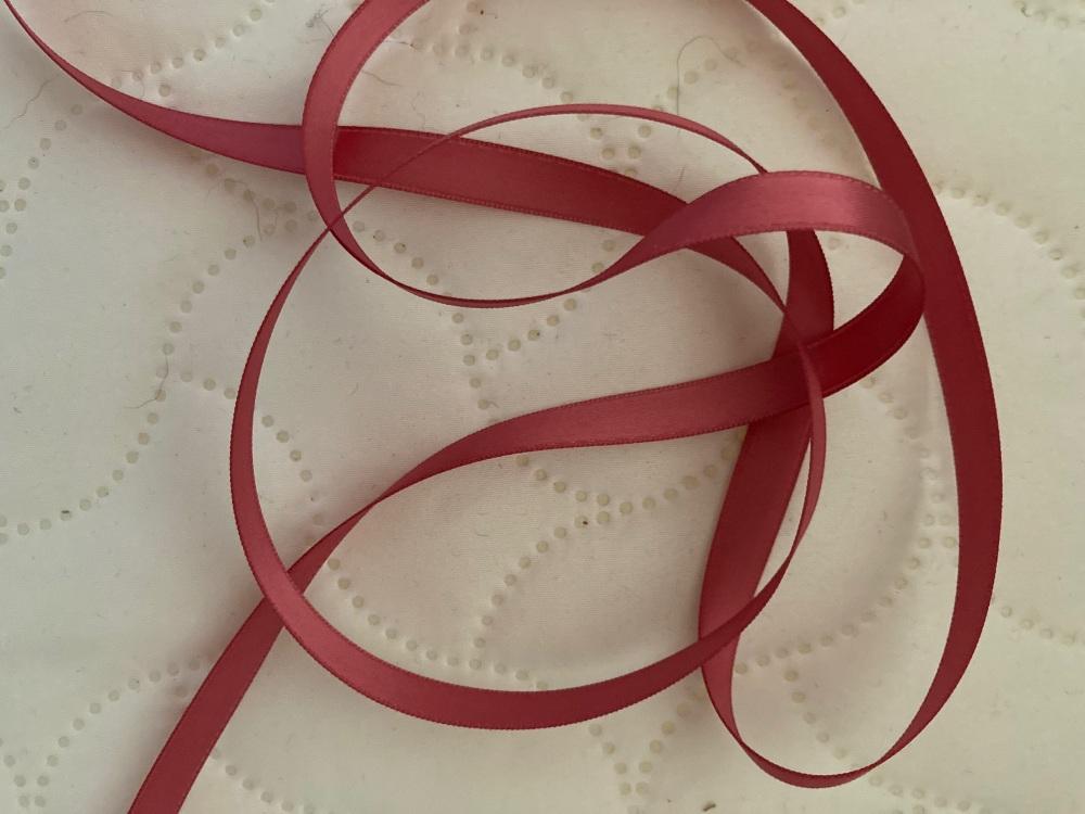 Rose Pink  Double Satin Ribbon 3mm (per metre)
