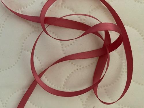 Rose Pink Double Satin Ribbon 6mm (per metre)