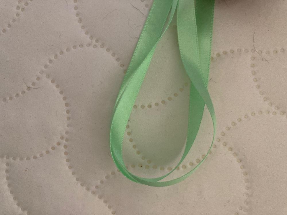 Green (Light) Double Satin Ribbon 10mm (per metre)