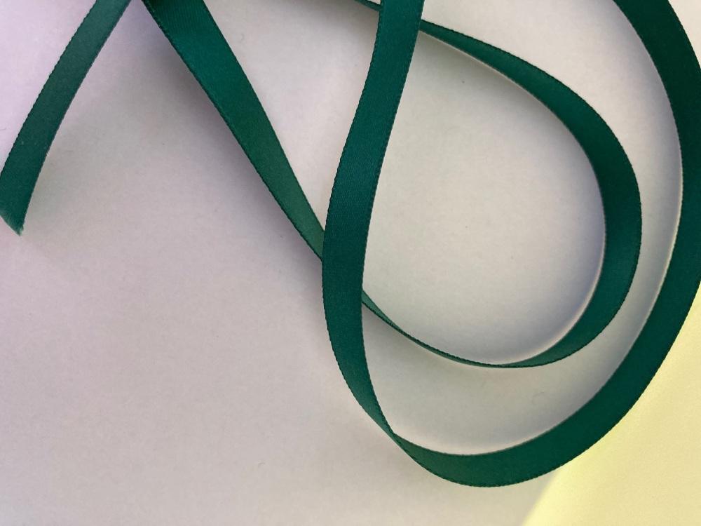 Teal Double Satin Ribbon 6mm (per metre)