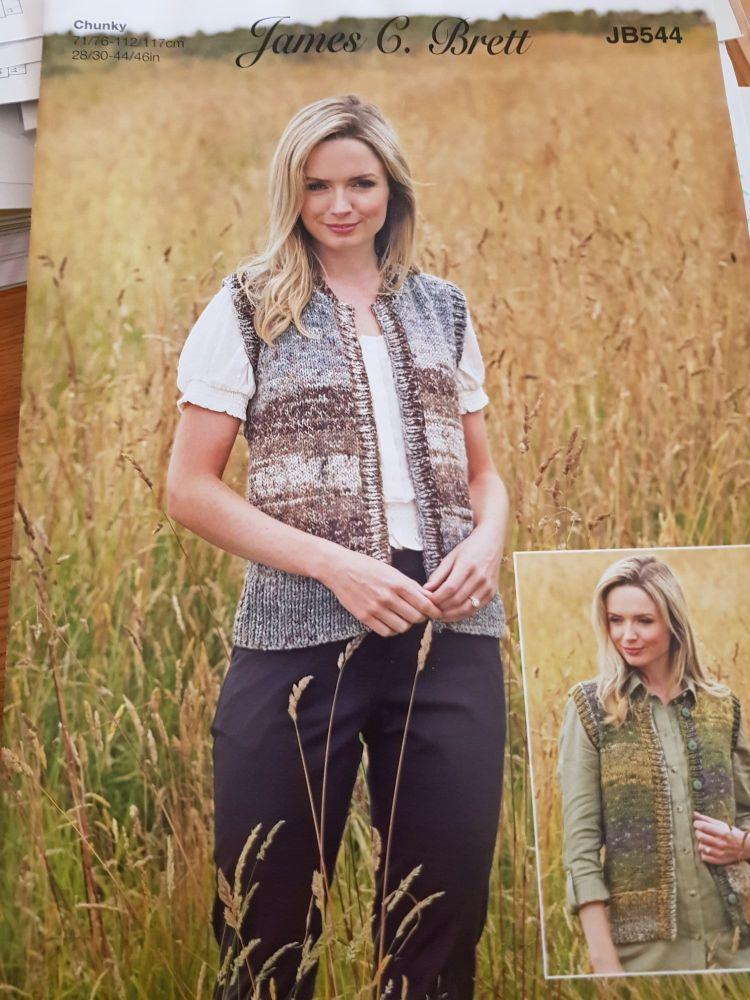 Ladies Knitting Pattern Waistcoat JB544
