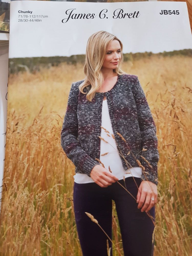 Ladies Knitting Pattern Cardigan JB545