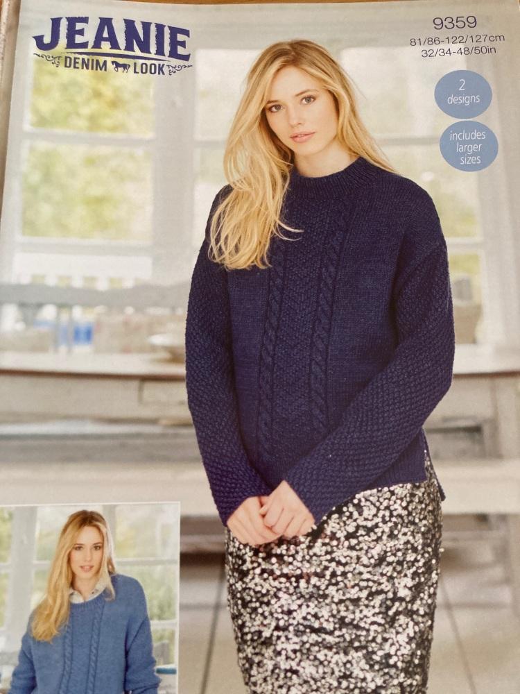 Ladies Knitting Pattern  Jumper Stylecraft 9359