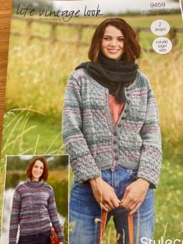 Ladies Knitting Pattern Cardigan , Jumper  Stylecraft 9459