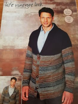 Gents  Knitting Pattern Cardigan Stylecraft 9312