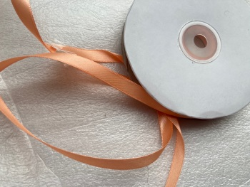 Peach Double Faced Satin 10mm / 40 -50 metre roll  (Full Roll)