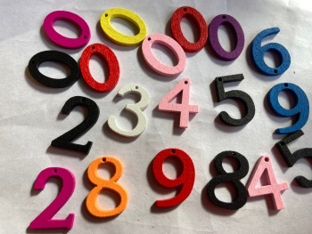 Wooden numbers Button 20mm (Pack of 12) as shown   TR01