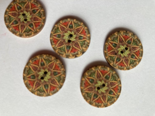 Wooden Buttons 15mm (Pack of 8) WD22