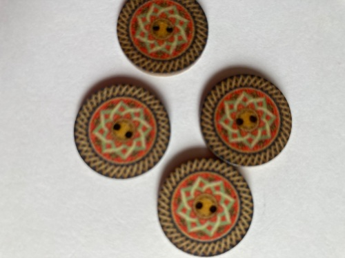Wooden Buttons 15mm (Pack of 8) WD25