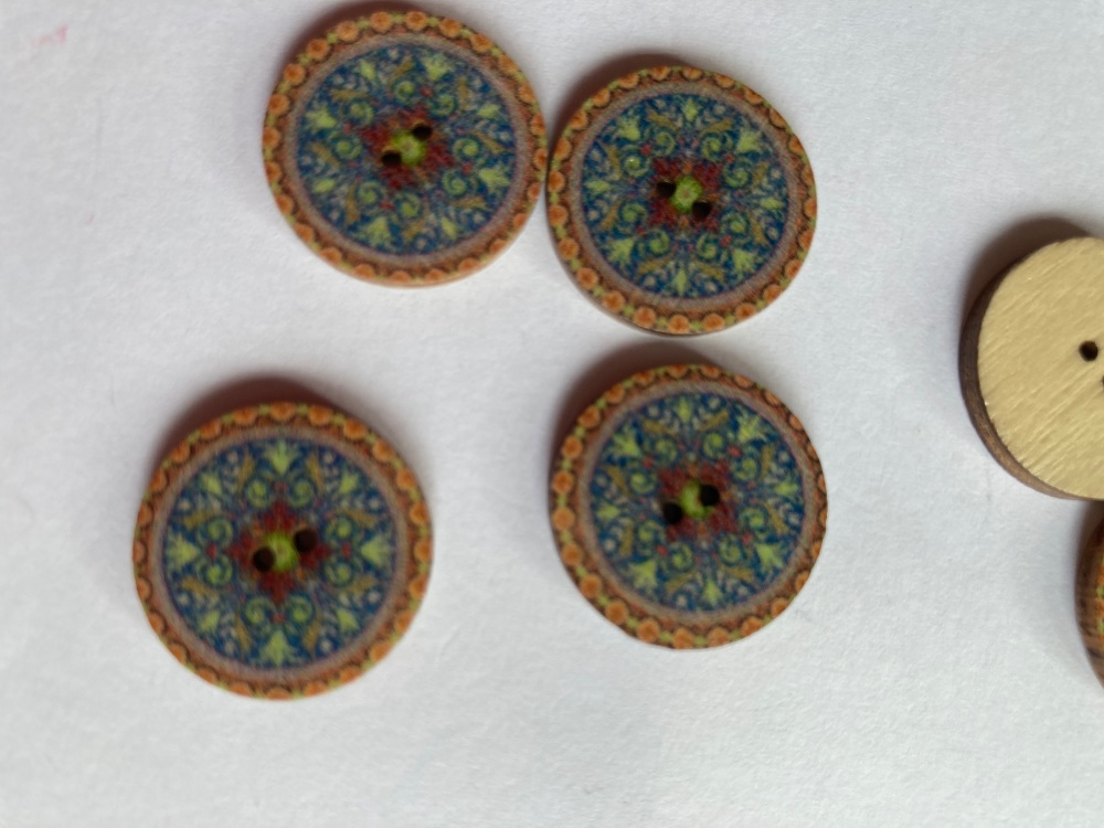 Wooden Buttons 20mm (Pack of 8) WD30