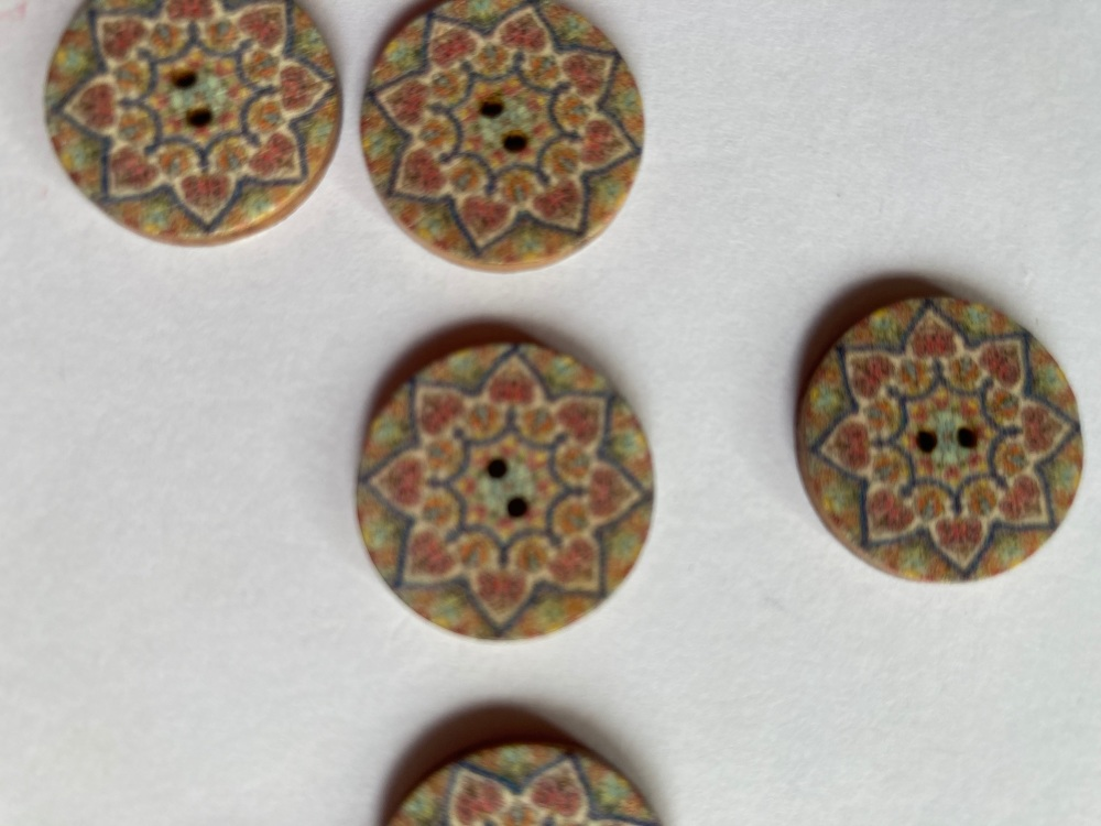 Wooden Buttons 20mm (Pack of 8) WD37
