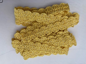 Yellow Braid/Trim 15mm (2 metre pack)