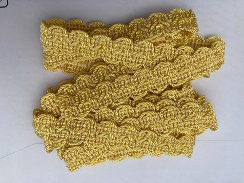 Yellow Braid/Trim 15mm (2 metre pack)