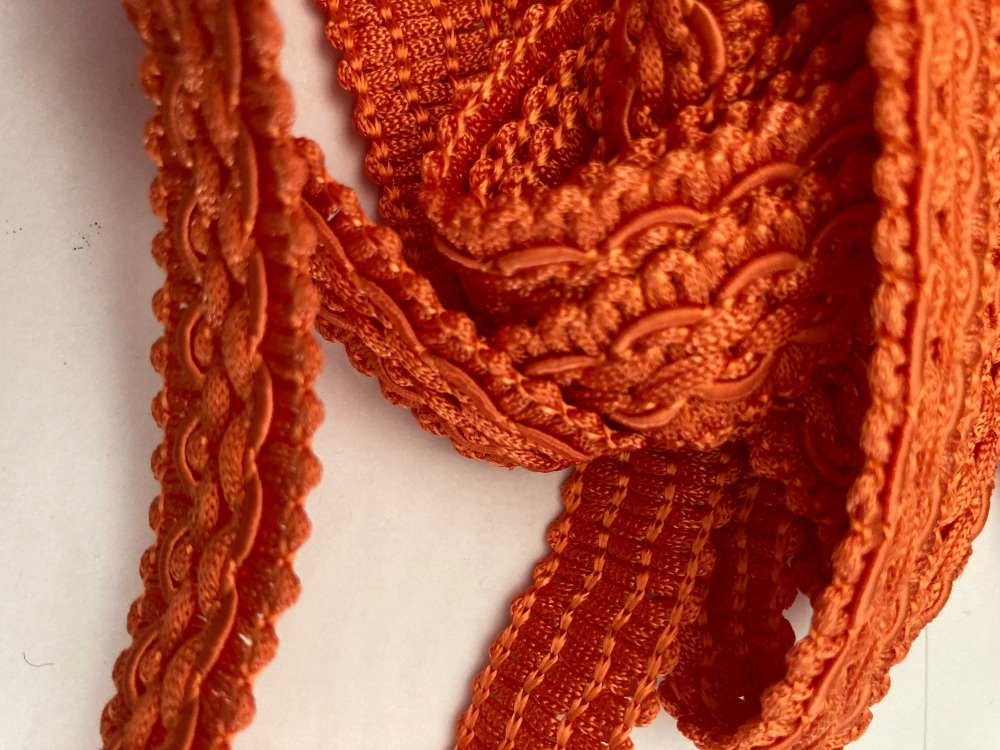 Orange  Braid/Trim 16mm (2 metre pack)