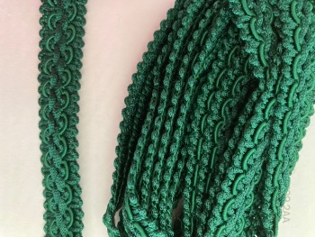 Green - Emerald Braid/Trim 16mm (2 metre pack)