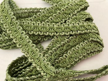 Green - Sage Braid/Trim 12mm (2 metre pack)