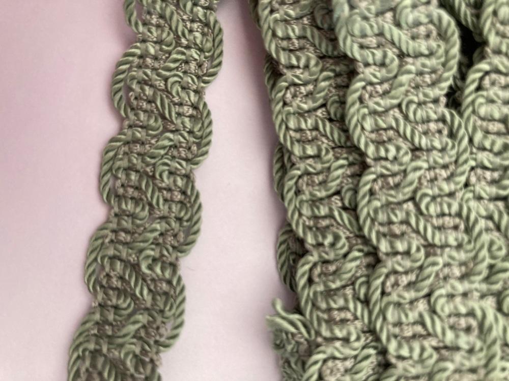 Green - Sage  Braid/Trim 15mm (2 metre pack)