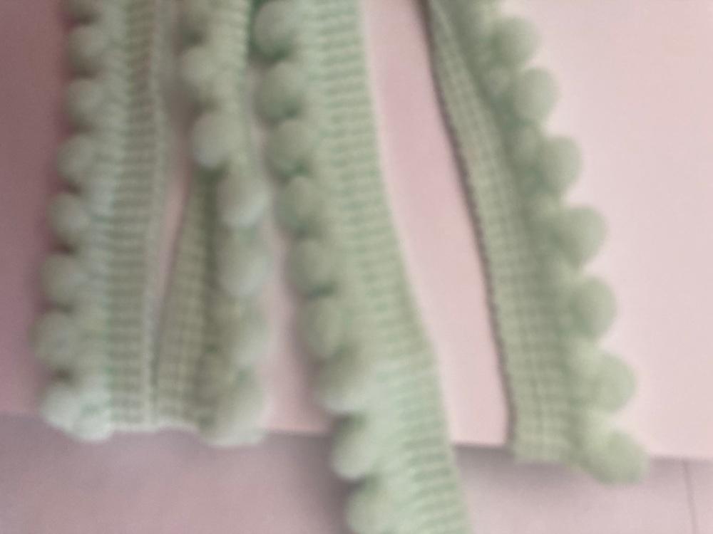 Green - Mint Pom Pom Trim - 1 metre pack