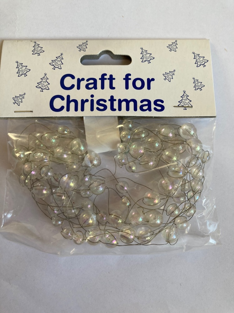 Beads on Wire Trim/ Embellishment - Clear 2.5metres