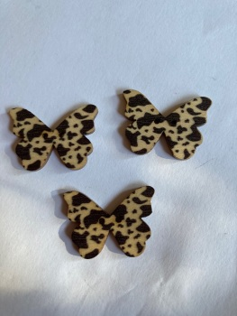 Butterfly Wooden Button 28x22mm (Pack of 6)BF08